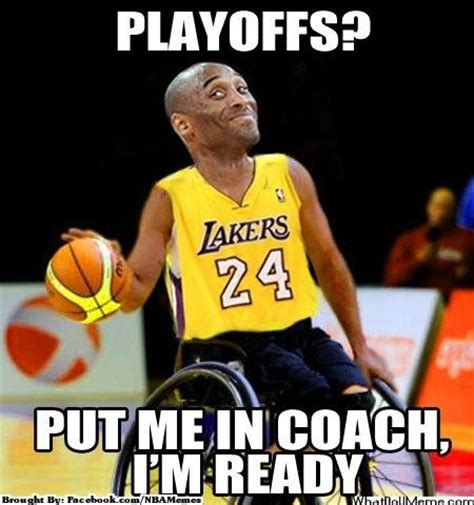 Kobe Bryant Memes - meme of the day kobe says put me in coach i m ready