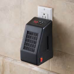 room heaters the wall outlet space heater hammacher schlemmer