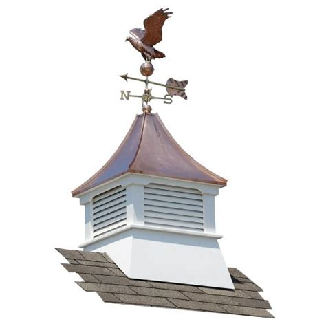 Suncast Belvedere Vinyl Cupola With Copper Roof And