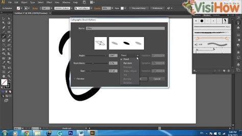 adobe illustrator cs6 brushes make a calligraphic brush in adobe illustrator cs6 visihow