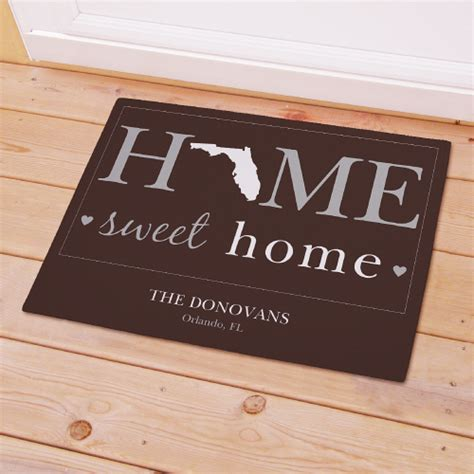 Personalized Doormats by Personalized Home Sweet Home Welcome Doormat Giftsforyounow