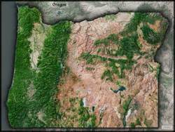 oregon satellite wall map by outlook maps