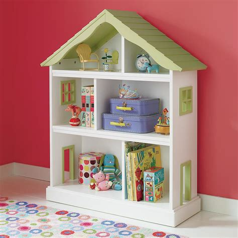 here s a charming land of nod dollhouse bookcase 299