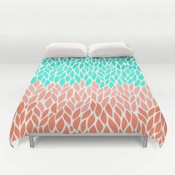 mint green and coral bedding best mint green duvet cover products on wanelo