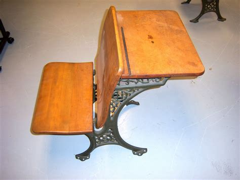 antique cast iron and wood school desk mint condition ebay