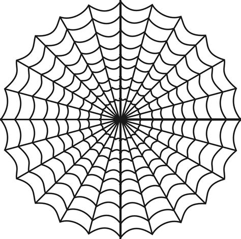 free web page clipart free printable spider web coloring pages for