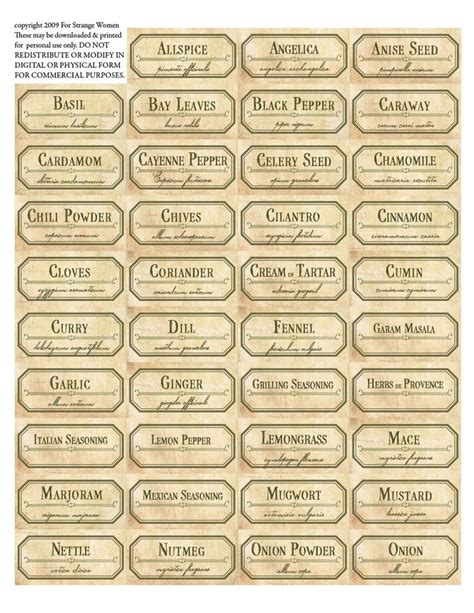 printable jar labels free 19 best free printable spice labels images on pinterest