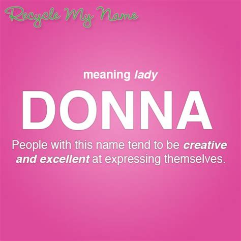 Meaning Of The Word Meaning Of Donna Meanings Of Names