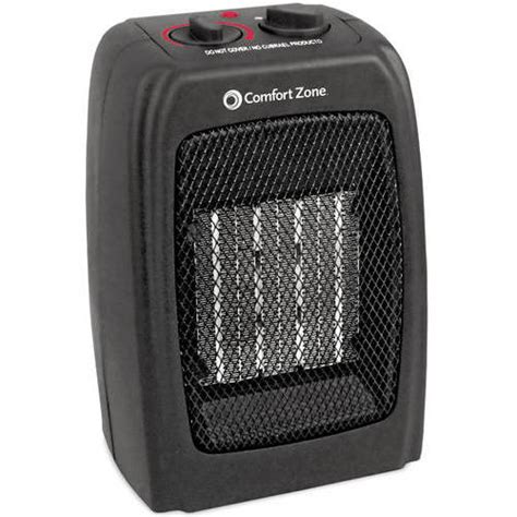 Comfort Zone 5 120 Btu Multi Purpose Ceramic Heater Black