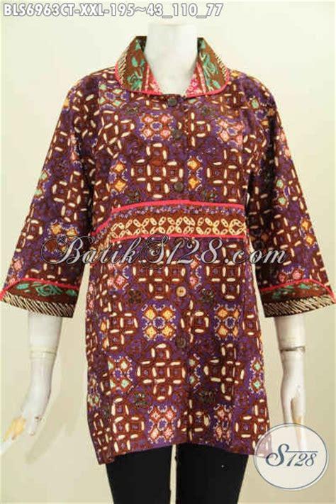 Jual Rompi Wanita Gemuk by Jual Baju Batik Wanita Murah Dan Mewah Blus Batik Jumbo