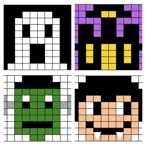 halloween grid coloring pages halloween math mystery pictures number activities and