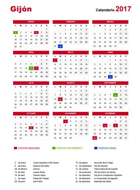 Calendario 2017 Y Festivos 191 Cu 225 Ndo Cae Semana Santa Vacaciones Y Festivos En Gij 243 N