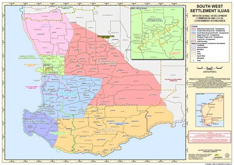 map of south west south west title settlement noongar settlement