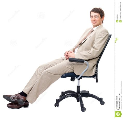 Sit In A Chair Or Sit On A Chair by Stock Photo Business Sitting On Chair Image 5155960