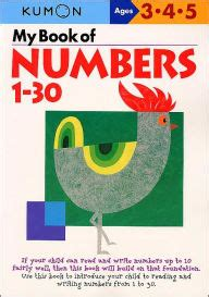 Kumon My Book Of Number 1 150 my book of numbers 1 30 kumon series by kumon paperback barnes noble 174