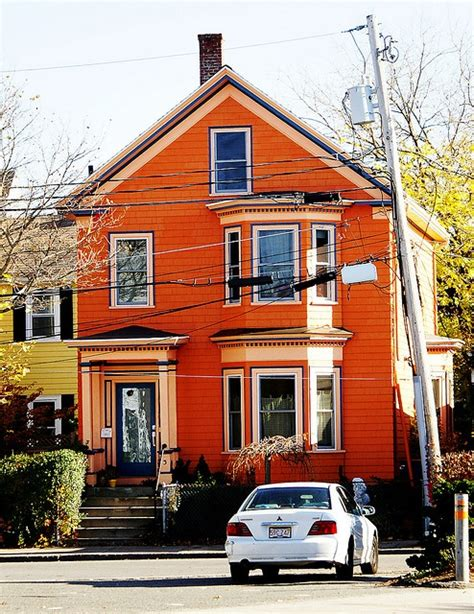 orange exterior house colors orange house orange pinterest