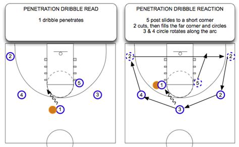 read and react layers diagram dribbling and the read and react offense rgb part 3 of 5