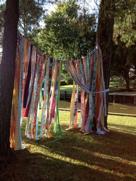 gypsy boho curtain fabric garland backdrop dorm ohmycharley garden ideas curtains boho curtains fabric garland
