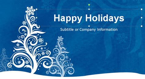 happy holidays from company card template free free tree powerpoint template free
