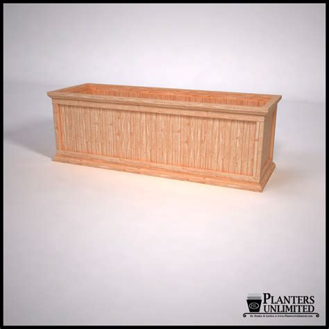 commercial cedar planter box outdoor planter