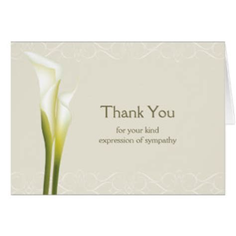 Thank You Note Quotes Sympathy Sympathy Thank You Cards Zazzle