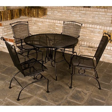 ava wrought iron dining patio furniture by meadowcraft