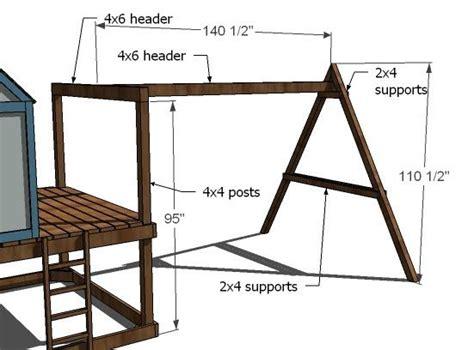 wooden swing set blueprints best 25 swing set plans ideas on pinterest swing sets