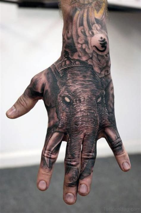 elephant tattoo on hand 25 elephant tattoos on