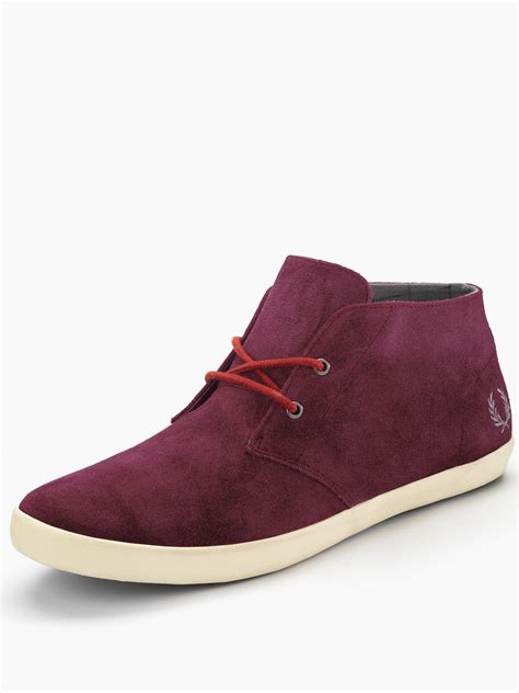 fred perry mens boots fred perry mens byron mid suede boots in for port
