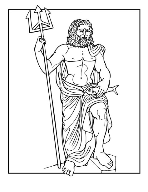 greek gods coloring pages coloring home