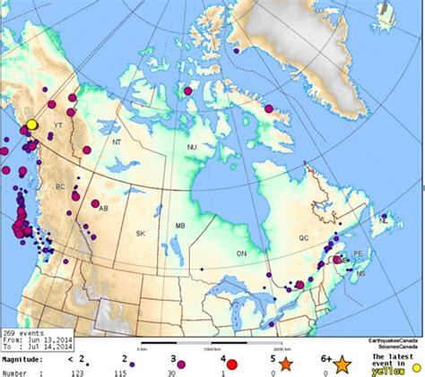 earthquake canada are there earthquakes in canada gem systems