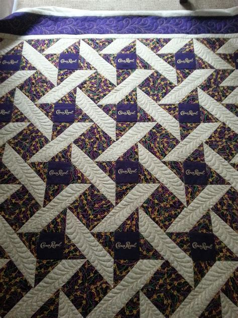 Crown Quilt Pattern by A Feathery Crown Royal Quilt Cline Quilting