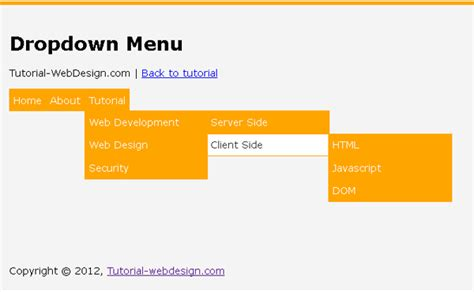 membuat menu dropdown menu tutorial web design