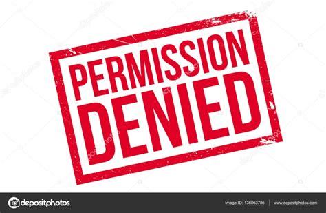 denied rubber st permission denied rubber st stock vector 169 lkeskinen0