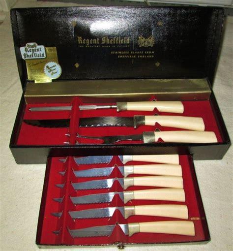 two vintage kitchen carving knives regent sheffield ic vintage regent sheffield carving and steak knife set in