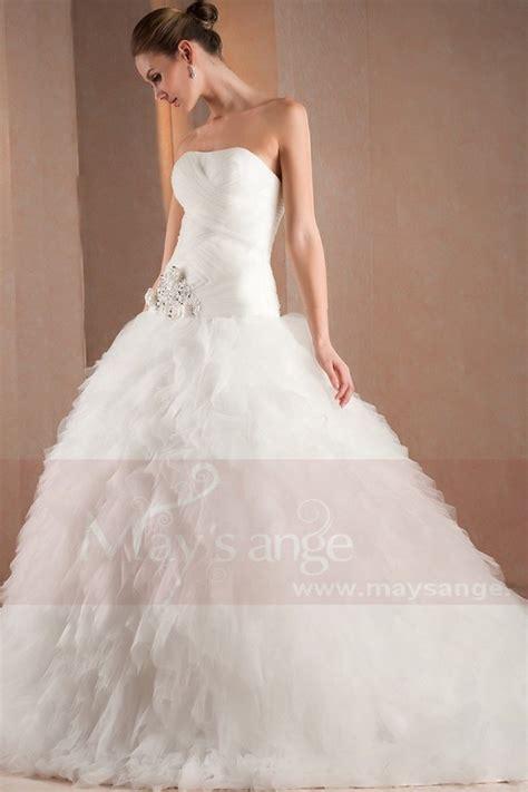 Robe Tulle Mariage - robe de mariage ange en tulle m302