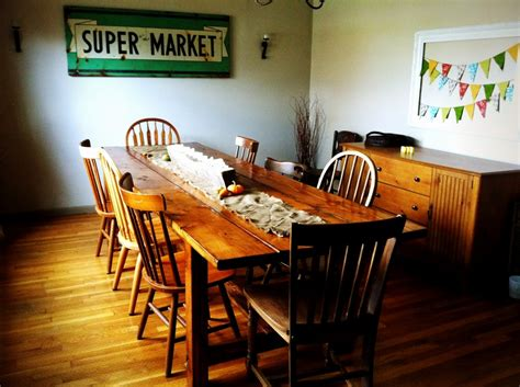 dining room farm table dinning sitting area on pinterest dining rooms