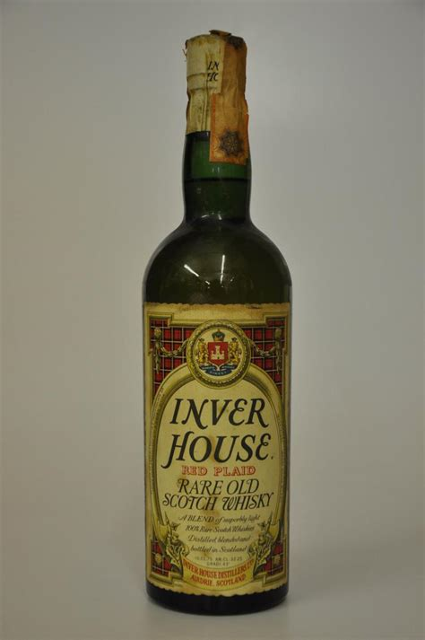 whiskey house inver house red plaid blended scotch whisky whisky online auction