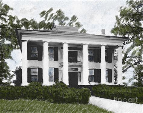 dodd house georgia plantation digital art by lianne schneider