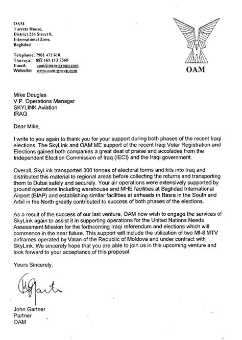 Service Letter In Aviation recommendation letters valan icc air charter