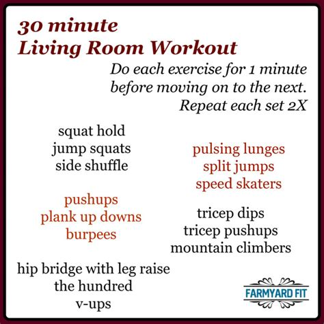 Living Room Workout by Archives Farmyard Fit