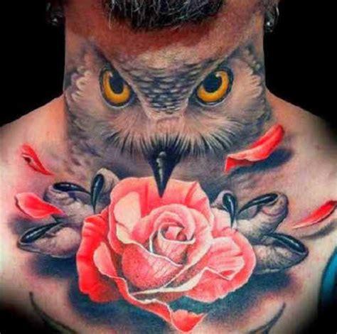 owl tattoo throat tatuajes en cuello tatuajes para hombres imagenes y dise 241 os