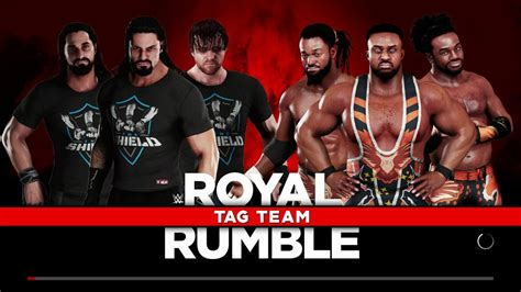 Match Card Template Tag Team by 2k18 The Shield Vs The New Day