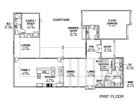 u shaped floor plans with courtyard house plans with courtyards in the middle