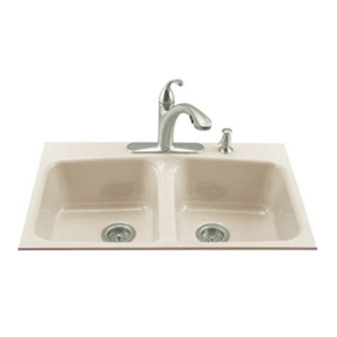 kohler brookfield kitchen sink shop kohler brookfield basin tile in enameled cast
