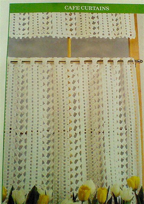 cafe curtain patterns vintage crochet cafe curtain pattern by mamaspatterns on etsy