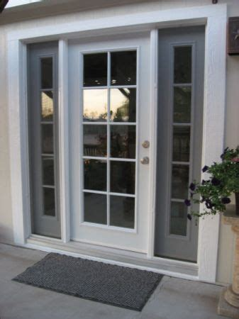 Single Patio Door Single Style Door With Insulated Glass And Sidelights Skylights Windows