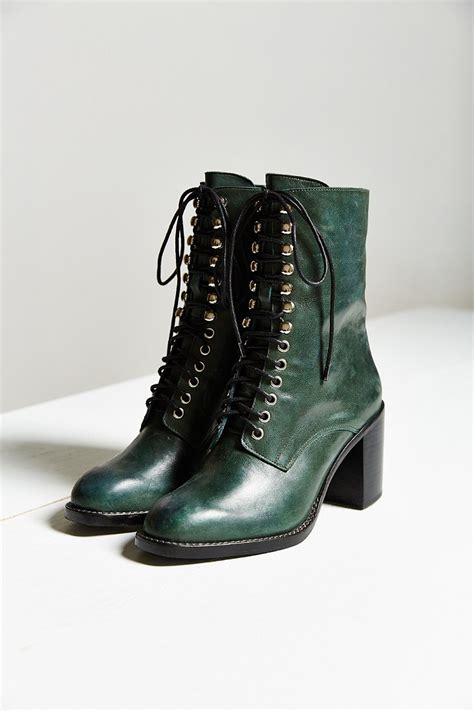 lace up boot jeffrey cbell caspian lace up boot in green lyst