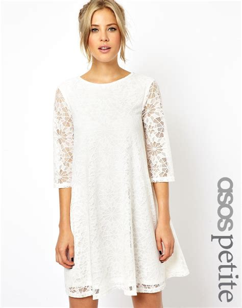 lace swing dress asos petite asos petite lace swing dress with half