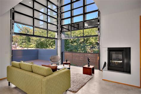 Living Room Garage Doors Craftsman Style Garage Doors Living Room Industrial With